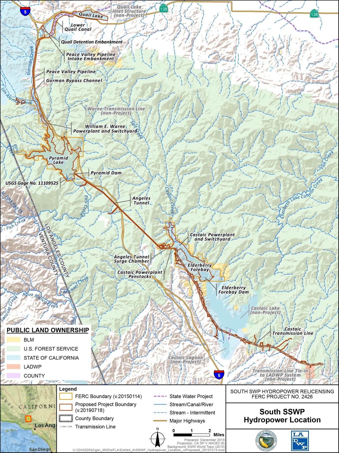 South SWP Hydroelectric Project Map